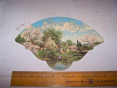 Vintage HOME MODERNIZING CO Insulation Advertising Fan TERRE HAUTE INDIANA