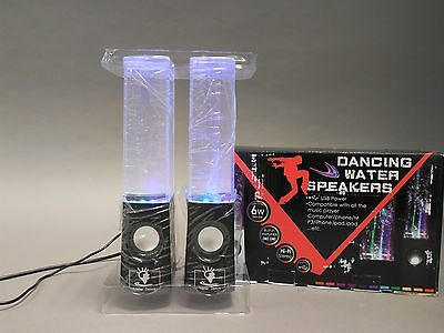 Dancing LED Water Speakers with Black Base - New in Box