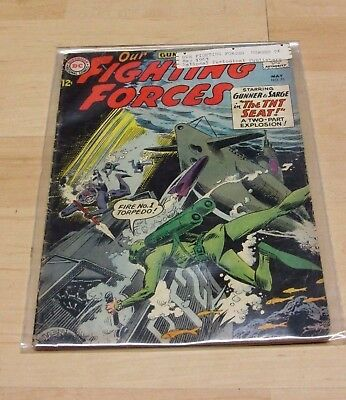 Dc Comics Our Fighting Forces #76 1963 Silver Age Comic Book Estate Colle