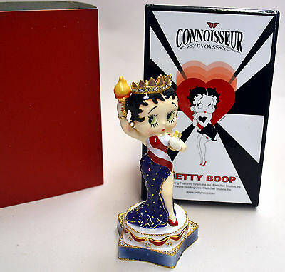 """BETTY BOOP """"NY MISS LIBERTY"""" TRINKET BOXES 2 pcs By CONNOISSEUR, L.ED. NEW W BOX"""