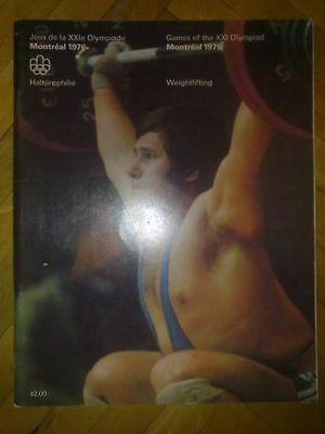 Programme Olympic Games Montreal 1976 WEIGHTLIFTING