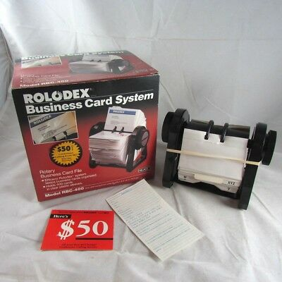 Rolodex Business Card File System RBC-400 with Sleeves New with Box 1990s