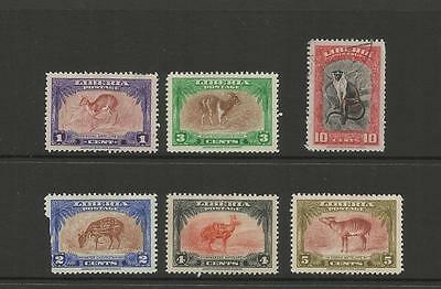 Liberia ~ 1942 Forest Animals (Set) Faults