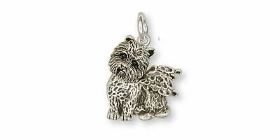 Cairn Terrier Angel Charm Jewelry Sterling Silver Handmade Dog Charm CNWT7-AC