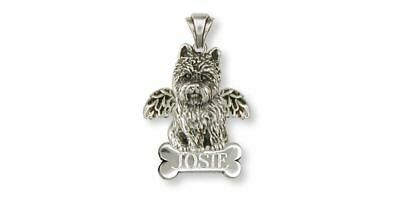 Cairn Terrier Angel Pendant Jewelry Sterling Silver Handmade Dog Pendant CNWT32-