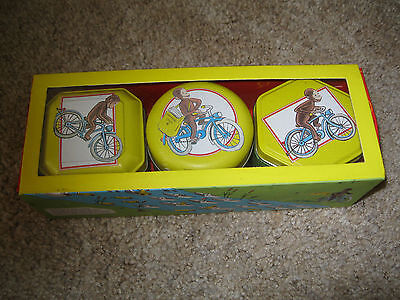 SET OF 3 -- Curious George scented candles in decorative tins