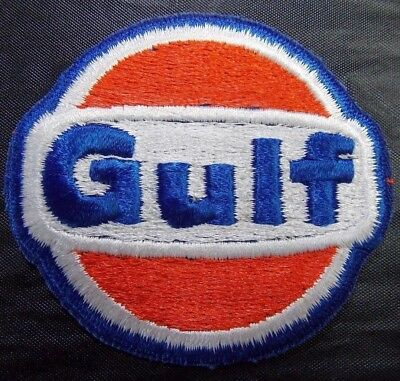 Vintage Embroidered Gulf Patch Full gas oil hat uniform 817-s25