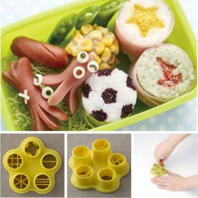 5 in 1 Sausage Cutter Mold Mould Lunch Box Bento Sausage Mold Set Bento NEW LD