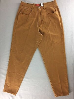 Vtg Lane Bryant Venezia Jeans Gold High Waist Relaxed Fit Tapered Leg Sz 18 NWT