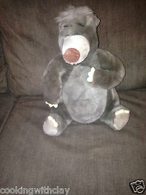 Vintage Jungle Book Baloo Bear Plush Doll Figure Disney  Novelty Character Toy