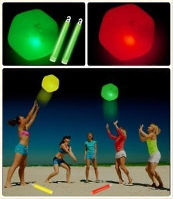 """""""GLOW BEACH BALL"""" 30cm (12"""") Great For Parties & Music Festivals ~ Brand New"""