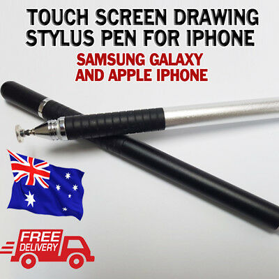 Touch Screen Drawing Stylus Pen for Samsung Galaxy & iPhone Black / Silver !