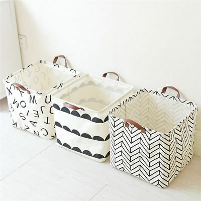Foldable 3 styles Storage Bin Closet Toy Box Container Organizer Fabric Basket