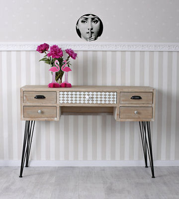 Vintage Desk Loft Table Console Sideboard Table Industry