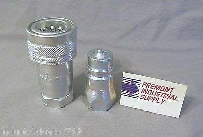 "Hydraulic quick coupler set ISO-7241-A 3/8""  interchanges w/ 6601-6-6/6602-6-6"