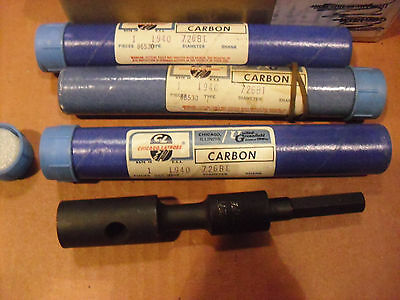 "FOUR !! Chicago Latrobe B Taper Adapters With 7/16"" Hex Shank"