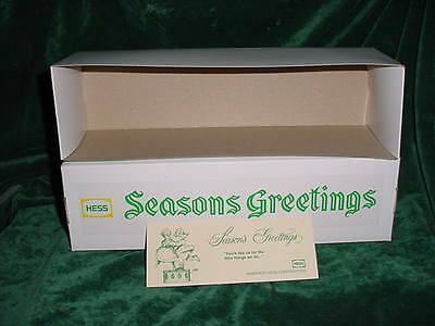Seasons Greeting Hess Christmas Fire Truck Box  For 1970 71 Red Truck  + Card