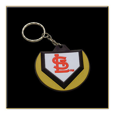 Two St. Louis Cardinals MLB Home Plate Key Chains