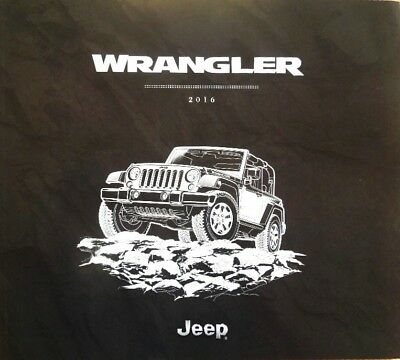 2016 Jeep Wrangler Rubicon Sahara Sport 48-Page Deluxe Dealer Sales Brochure