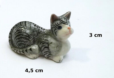 chat miniature en porcelaine,collection,décoration,animal, cat,poes  S3-4