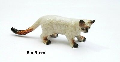 chat miniature en porcelaine,collection,animal, cat, kat, poes  *S3-9