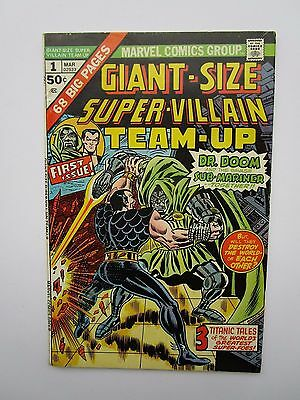 1975 Giant-Size Super Villain Team-Up #1, Doom And Submariner, Fine To Very Fine