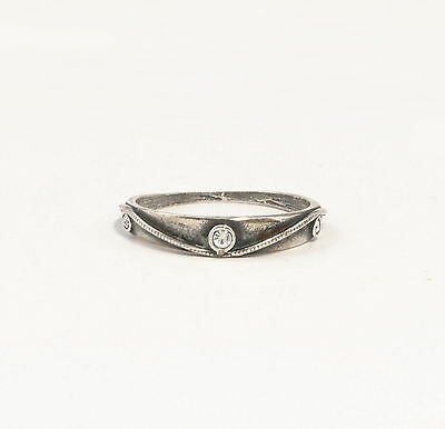 925 silver Ring with Swarovski Stones Big 53 delicate 9901381