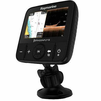 Raymarine Dragonfly 5 PRO GPS Sonar Combo with WiFi &CHIRP Transducer DownVision