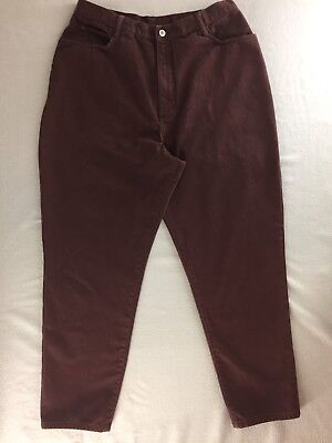 Vintage Gitano Jeans Relaxed Fit High Rise Tapered Leg Brown Women 34/20 W