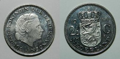 NETHERLANDS : 1 GULDEN 1968 -  Flashing Lustre - NICE