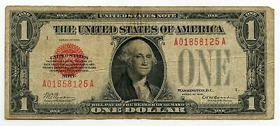 1928 $1 United States Note - Red Seal Currency - AM252