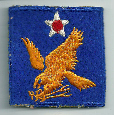 Ww2 Era Aaf Army Air Force 2Nd Air Forcecut Edge Snow Back Insignia Patch Wwii