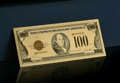 <OLD STYLE $100 DOLLAR BILL>1928 SERIES GOLD CERTIFICATE$100 Rep.*GOLD Banknote!