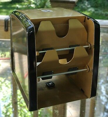 Vintage Retro MCM Arrco Automatic Playing Card Shuffler Gold & Black Accents