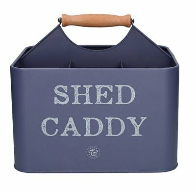BULB and BLOOM Shed Caddy with Handle GARDENING TIDY Tool Holder BLUE