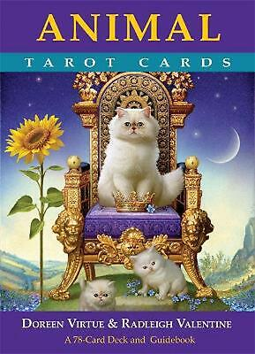 Animal Tarot Cards: A 78-Card Deck and Guidebook by Doreen Virtue Free Shipping!