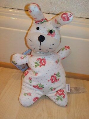 Bunny Flora Print Intelex Warmies Microwavable Lavender Scented Soft Toy