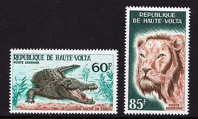 Upper Volta 1965 Airmail - Lion & Crocodile - MNH set - Cat £7.25 - (134)
