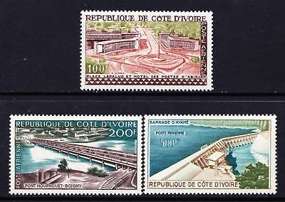 Ivory Coast 1959 Airmail - Local Structures - MH set of 3 - Cat £22.75 - (115)