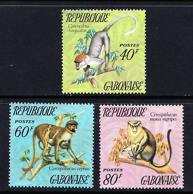GABON 1974 Monkeys - MNH set of three values - Cat £6.00 - (111)