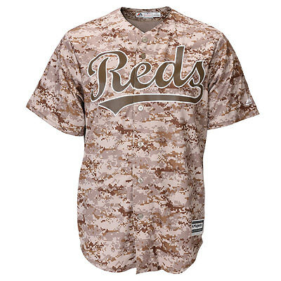 Cincinnati Reds Cool Base Camouflage MLB Replica Jersey Small