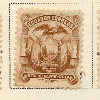 Ecuador 1881 Early Issue Fine Mint Hinged 1c. 170135