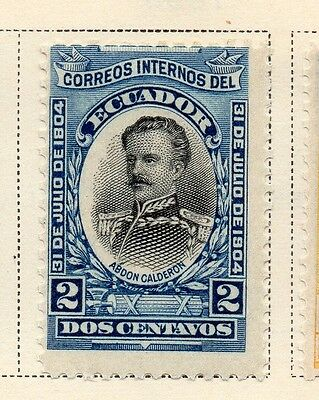 Ecuador 1904 Early Issue Fine Mint Hinged 2c. 170176