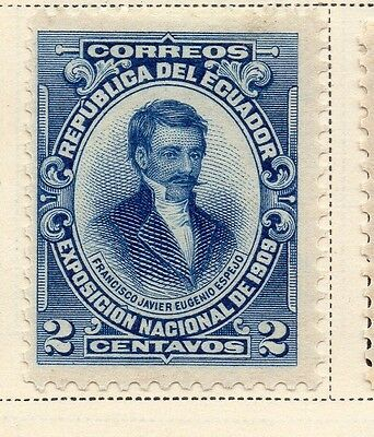 Ecuador 1909 Early Issue Fine Mint Hinged 2c. 170186