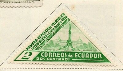 Ecuador 1936 Early Issue Fine Mint Hinged 2c. 170279