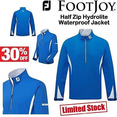 Footjoy Golf Waterproof Jacket Half Zip Golf Rain Jacket * 30% Off * Blue