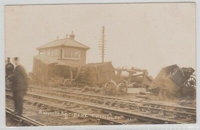 Wiltshire. Railway Accident At Thingley Station.