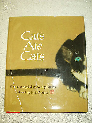 Book CATS ARE CATS Poems Nancy Larrick Ed Young Poetry (HC) (DJ) 1988