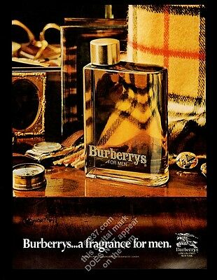 1981 Burberrys men's cologne fragrance bottle photo vintage print ad