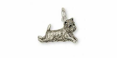 Cairn Terrier Charm Jewelry Sterling Silver Handmade Dog Charm CNWT11-C